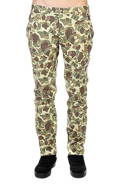 Штаны прямые Huf Fulton Chino Pant Olive Duck Camo штаны прямые billabong new order chino khaki