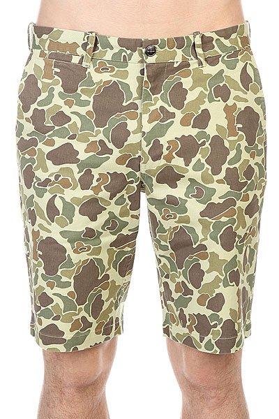 Шорты Huf Twill Walk Short Olive Duck Camo<br><br>Цвет: зеленый,коричневый,бежевый<br>Тип: Шорты<br>Возраст: Взрослый<br>Пол: Мужской