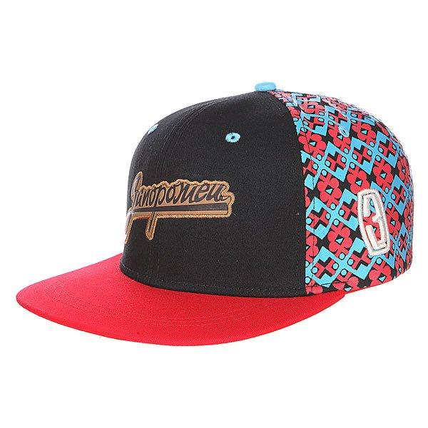 Бейсболка Запорожец 3 Logo Снеп Black/Red