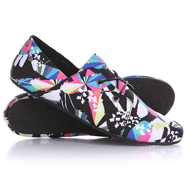 Кеды кроссовки низкие женские Volcom Soul Mates Shoe Black Print