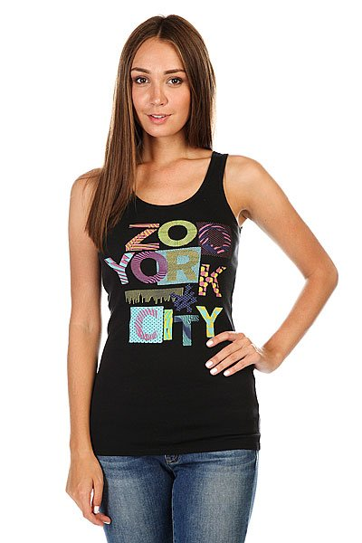 Майка женская Zoo York Zywf09-92067 Black<br><br>Цвет: черный<br>Тип: Майка<br>Возраст: Взрослый<br>Пол: Женский