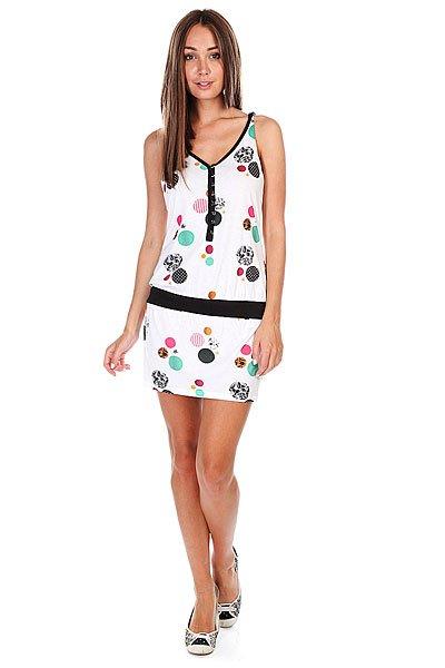 Платье женское Zoo York Zyws09-41011 White<br><br>Цвет: белый<br>Тип: Платье<br>Возраст: Взрослый<br>Пол: Женский