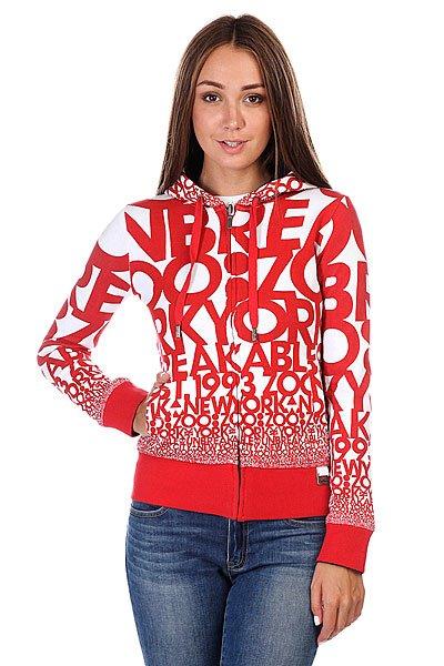 Толстовка Zoo York Rev Empire Light Red<br><br>Цвет: красный,белый,черный<br>Тип: Толстовка классическая<br>Возраст: Взрослый<br>Пол: Женский