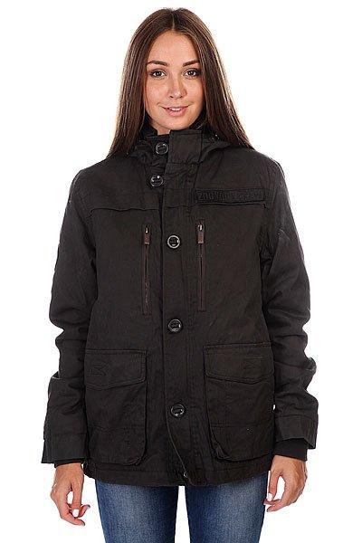 Куртка женская Zoo York Zy Puffer Parka Black