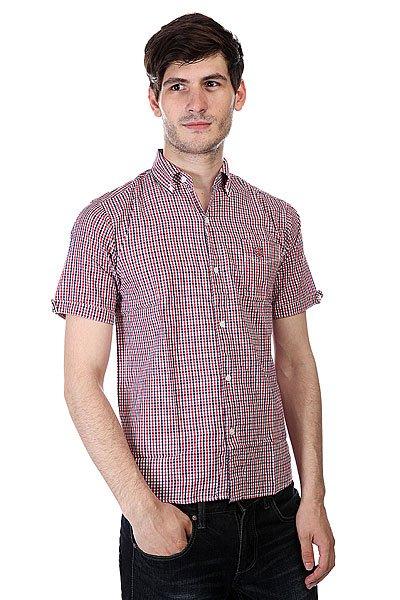 Рубашка в клетку Independent Ganio Red/Blue