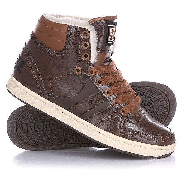 Кеды кроссовки утепленные Globe Destroyer Brown/Chocolate Fur<br><br>Цвет: коричневый<br>Тип: Кеды утепленные<br>Возраст: Взрослый<br>Пол: Мужской