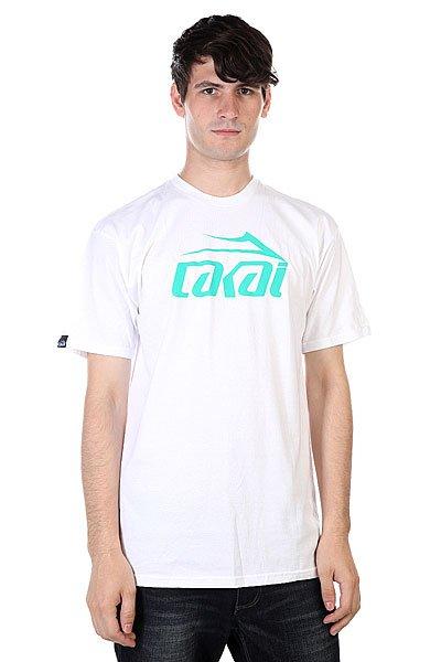 Футболка Lakai Logo White<br><br>Цвет: белый<br>Тип: Футболка<br>Возраст: Взрослый<br>Пол: Мужской