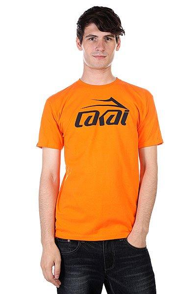 Футболка Lakai Logo Orange<br><br>Цвет: оранжевый<br>Тип: Футболка<br>Возраст: Взрослый<br>Пол: Мужской