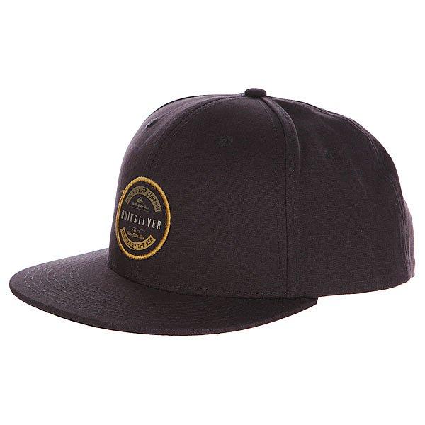 Бейсболка Quiksilver Toast Hats Black<br><br>Цвет: серый<br>Тип: Бейсболка с прямым козырьком<br>Возраст: Взрослый