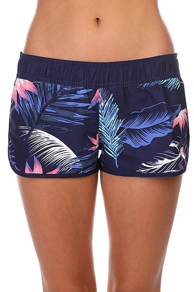 Шорты пляжные женские Roxy Love Tropical Getaway AstДанная модель не имеет внутренней подкладки в виде сеточки<br><br>Цвет: синий<br>Тип: Шорты пляжные<br>Возраст: Взрослый<br>Пол: Женский