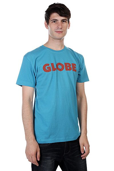 Футболка Globe Branded Tee Teal<br><br>Цвет: голубой<br>Тип: Футболка<br>Возраст: Взрослый<br>Пол: Мужской