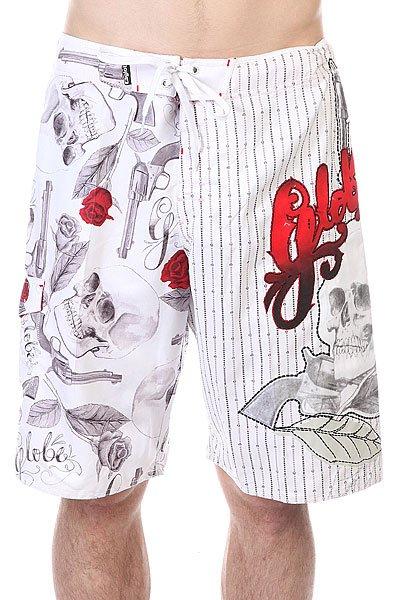 Шорты пляжные Globe Skulls&amp;roses Boardie WhiteДанная модель не имеет внутренней подкладки в виде сеточки<br><br>Цвет: белый<br>Тип: Шорты пляжные<br>Возраст: Взрослый<br>Пол: Мужской