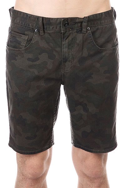 Шорты джинсовые Globe Soul Suckin Ii Walkshort Camo<br><br>Цвет: зеленый,черный,коричневый<br>Тип: Шорты джинсовые<br>Возраст: Взрослый<br>Пол: Мужской
