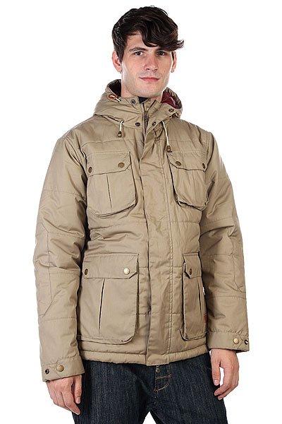Куртка Globe Infantry Jacket DesertУдобная куртка для комфортной осени.Характеристики:Внутренняя подкладка из тафты. Застежка – молния +кнопки.Регулируемые манжеты на липучках. Потайная утяжка подола. Два боковых кармана – карго для рук. Два накладных кармана на груди. Фасон – стандартный (regular fit).<br><br>Цвет: серый<br>Тип: Куртка зимняя<br>Возраст: Взрослый<br>Пол: Мужской