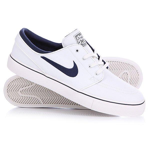 Купить Обувь   Кеды кроссовки низкие Nike Zoom Stefan Janoski Cnvs Summit White/Midnight Navy