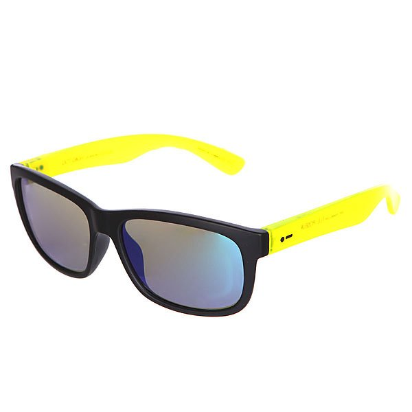 Очки детские Dot Dash Lil Poseur Black Lime Satin/Green ChromeОчки из коллекции Vintage - игривое отражение прошлого.Технические характеристики: Оправа из  поликарбоната.Прочные линзы из поликарбоната.Защита от ультрафиолетовых лучей 100% UV 400.Интегрированные пластиковые спортивные петли.<br><br>Цвет: черный,желтый<br>Тип: Очки<br>Возраст: Детский