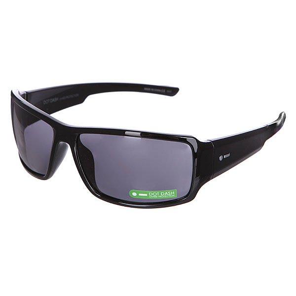 Очки Dot Dash Exxellerator Black/GreyОчки из коллекции Locker Room - плоские очки в спортивном стиле.Технические характеристики: Оправа из  поликарбоната.Прочные линзы из поликарбоната.Защита от ультрафиолетовых лучей 100% UV 400.Петли из закаленной стали.<br><br>Цвет: черный<br>Тип: Очки<br>Возраст: Взрослый<br>Пол: Мужской