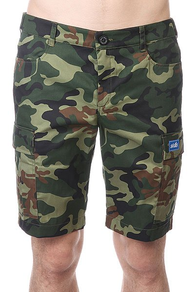 Mens Cargo Shorts  Belted Camo  Burlington