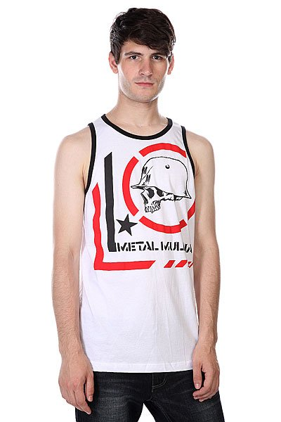 ����� Metal Mulisha Tanks Era Tank White