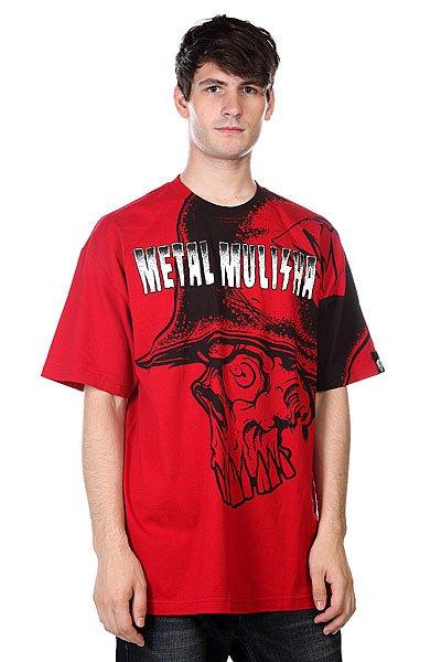 Футболка Metal Mulisha 20/20 Cardinal<br><br>Цвет: красный,черный<br>Тип: Футболка<br>Возраст: Взрослый<br>Пол: Мужской