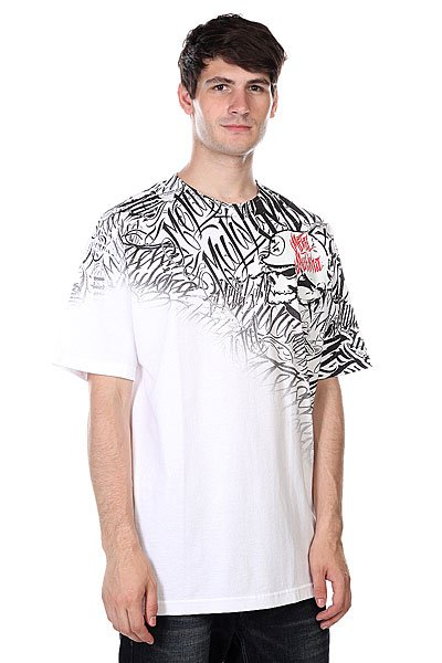 Футболка Metal Mulisha Covered White<br><br>Цвет: белый<br>Тип: Футболка<br>Возраст: Взрослый<br>Пол: Мужской