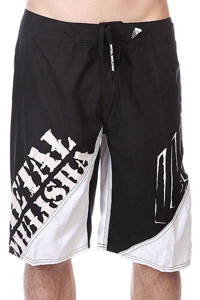 Шорты пляжные Metal Mulisha Lift Black/White