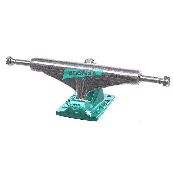 Подвеска для скейтборда 1шт. Tensor Alum Reg Flick Raw / Teal 5.5 (21 см)Ширина подвесок: 5.5 (21 см)    Высота подвесок: 50 мм    Цена указана за 1 шт    Минимальное количество для заказа 2 шт<br><br>Цвет: серый,зеленый<br>Тип: Подвеска для скейтборда