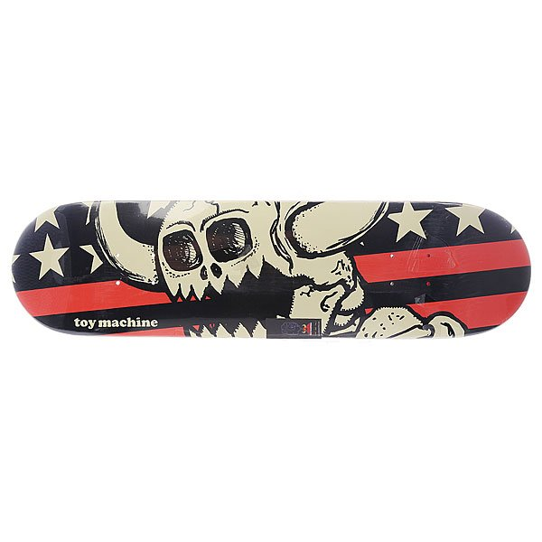 Дека для скейтборда для скейтборда Toy Machine Su5 Vice Stripes Dead Monster Grey 32.25 x 8.125 (20.6 см)