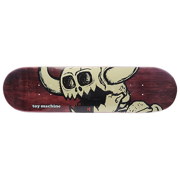 Дека для скейтборда для скейтборда Toy Machine Su5 Vice Dead Monster Grey/Bordo 32.5 x 8.25 (21 см)