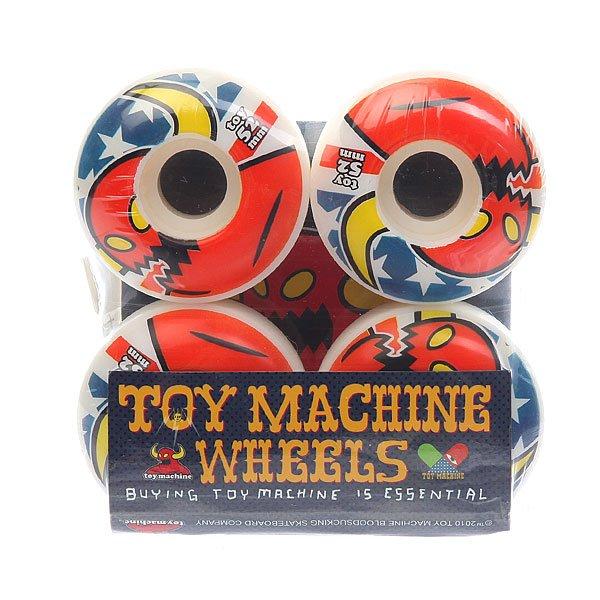Колеса для скейтборда для скейтборда Toy Machine Su5 American Monster 101A 52 mmДиаметр: 52 mm    Жесткость: 101A    Цена указана за комплект из 4-х колесПрофессиональная линейка колес для профессионалов своего дела.Технические характеристики: Форма губы - круглая. Диаметр: 52 мм. Жесткость: 101 А.<br><br>Цвет: синий,красный,белый<br>Тип: Колеса для скейтборда