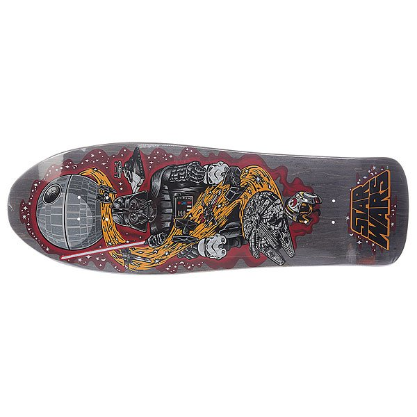 Дека для скейтборда для лонгборда Santa Cruz Star Wars Vader Neptune Black 10.2 X 31 (78.7 См)