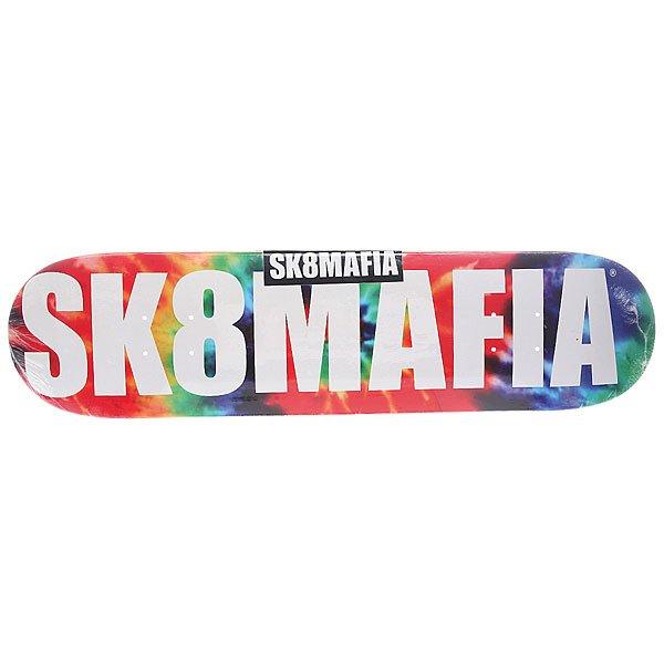 Дека для скейтборда для скейтборда Sk8mafia Og Logo Tye Dye 31.75 x 7.75 (19.7 см) дека для скейтборда для скейтборда sk8mafia james gamer 32 multi 32 x 8 0 20 3 см