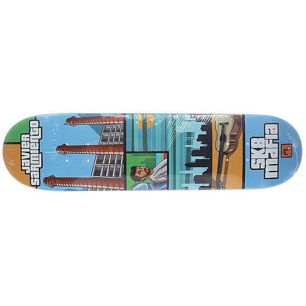 Дека для скейтборда для скейтборда Sk8mafia Sarmiento Gamer 31.75 x 7.8 (19.8 см)Ширина деки: 7.8 (19.8 см)    Длина деки: 31.75 (80.6 см)    Количество слоев: 7Высокое качество материалов и универсальная конструкция обеспечат вам комфортное катание и длительный щелчок.Технические характеристики:  Дека из 7-слойного клена. Форма: стандарт. Направленность: street. Про-модель Javier Sarmiento.<br><br>Цвет: мультиколор<br>Тип: Дека для скейтборда