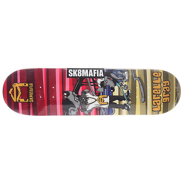Дека для скейтборда для скейтборда Sk8mafia Sk8rats Gray 32.12 x 8.25 (21 см) дека для скейтборда для скейтборда footwork progress wardogs oleinikov