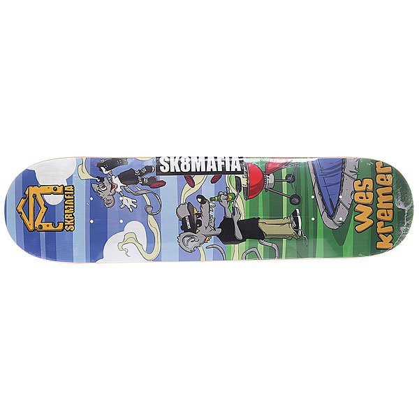 Дека для скейтборда для скейтборда Sk8mafia Kremer Sk8rats Small Multi 31.75 x 7.75 (19.7 см)Ширина деки: 7.75 (19.7 см)    Длина деки: 31.75 (80.6 см)    Количество слоев: 7Высокое качество материалов и универсальная конструкция обеспечат вам комфортное катание и длительный щелчок.Технические характеристики:  Дека из 7-слойного клена. Форма: стандарт. Направленность: street. Про-модель Wes Kremer.<br><br>Цвет: мультиколор<br>Тип: Дека для скейтборда