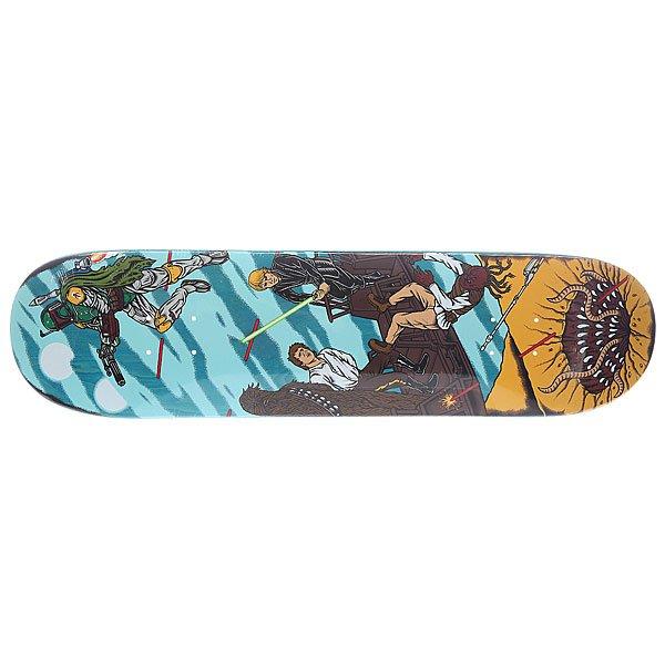 Дека для скейтборда для скейтборда Santa Cruz Star Wars Sarlacc Pit Multi 8.0 (20.3 см)Ширина деки: 8.0 (20.3 см)    Количество слоев: 7Очевидно, что решение купить скейтборд Санта Круз — выбор тех, кому близка музыка каменных джунглей. Дизайн досок — олицетворение «непричесанного» уличного стиля с его смелым, ироничным и грубоватым духом.Технические характеристики: Материал: канадский клен.  Плотность: 7 слоев.<br><br>Цвет: мультиколор<br>Тип: Дека для скейтборда