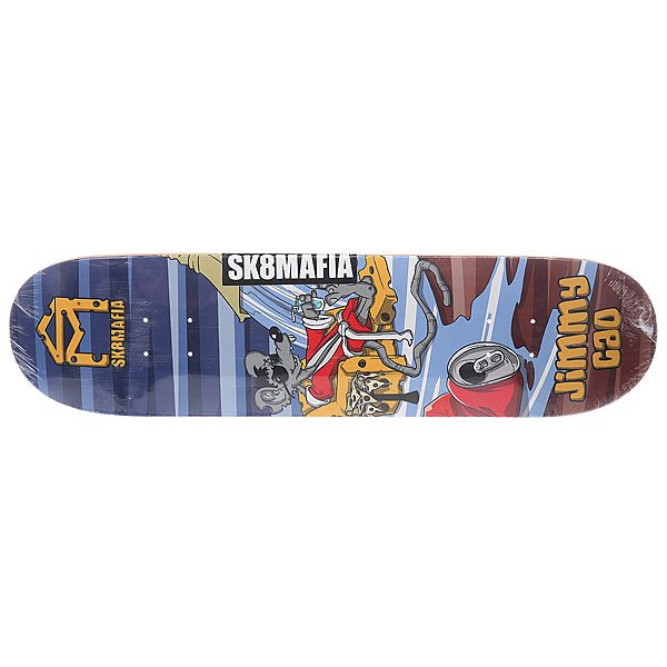 Дека для скейтборда для скейтборда Sk8mafia Cao Sk8rats Multi 32 x 8.0 (20.3 см) дека для скейтборда для скейтборда footwork progress shabala forever 32 5 x 8 25 21 см