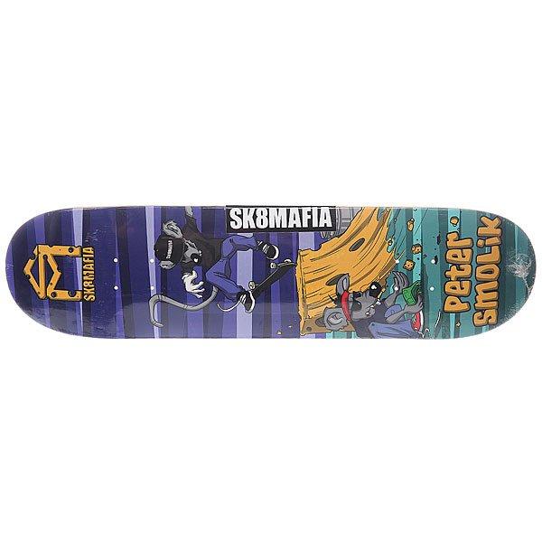 Дека для скейтборда для скейтборда Sk8mafia Smolik Sk8rats Multi 32 x 8.0 (20.3 см)Ширина деки: 8.0 (20.3 см)    Длина деки: 32 (81.3 см)    Количество слоев: 7Для тех скейтеров, которые предпочитают стиль и отличный щелчок, и не боятся выглядеть круто.Технические характеристики:  Дека из 7-слойного клена. Форма: стандарт. Направленность: street. Про-модель Peter Smolik.<br><br>Цвет: мультиколор<br>Тип: Дека для скейтборда