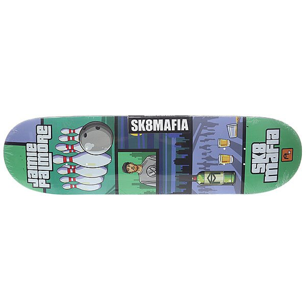 Дека для скейтборда Sk8mafia Palmore Gamer Green/Grey 32.38 x 8.5 (21.6 см)