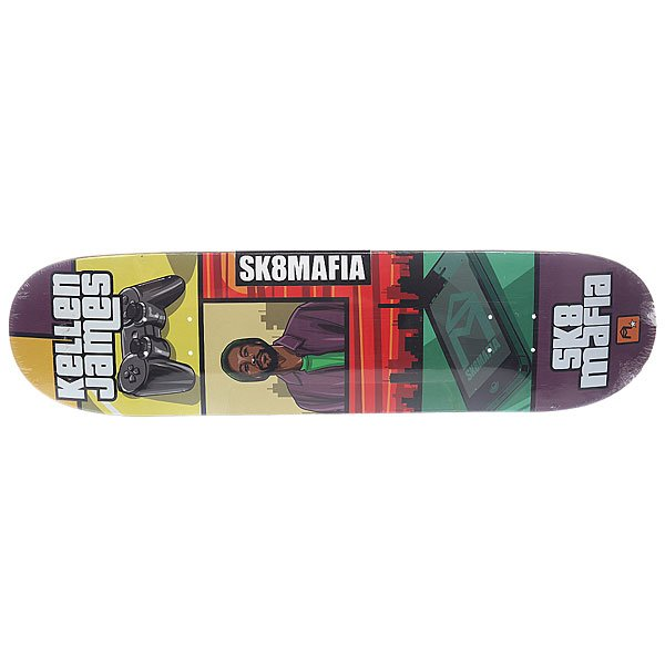 Дека для скейтборда для скейтборда Sk8mafia James Gamer 32 Multi 32 x 8.0 (20.3 см) дека для скейтборда для скейтборда footwork progress shabala forever 32 5 x 8 25 21 см
