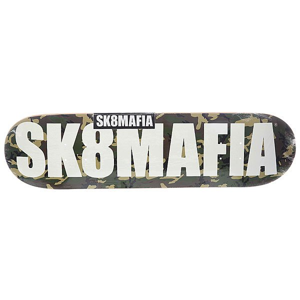 Дека для скейтборда для скейтборда Sk8mafia Og Logo 2 Camo 32.12 x 8.25 (21 см) дека для скейтборда для скейтборда sk8mafia james gamer 32 multi 32 x 8 0 20 3 см