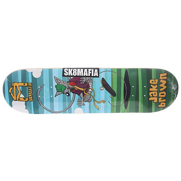 Дека для скейтборда для скейтборда Sk8mafia Sk8rats Brown 32.12 x 8.25 (21 см) дека для скейтборда для скейтборда footwork progress wardogs oleinikov