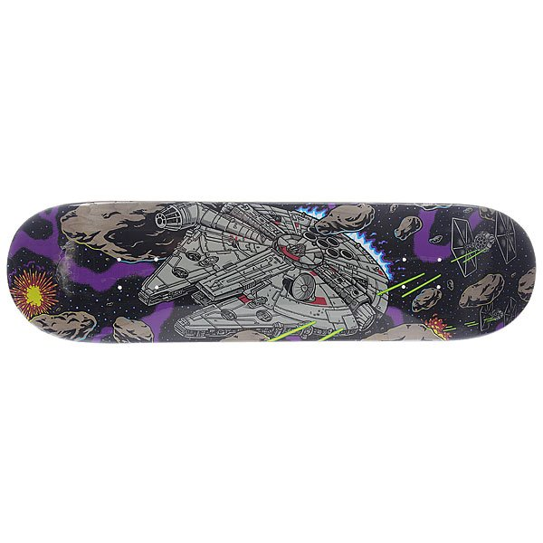 Дека для скейтборда для скейтборда Santa Cruz Star Wars Millennium Falcon Multi 31.7 x 8.26 (21 см)