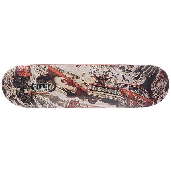 Дека для скейтборда для скейтборда Creature Gravette Strait To Hell Multi 31.7 x 8.26 (21 см)