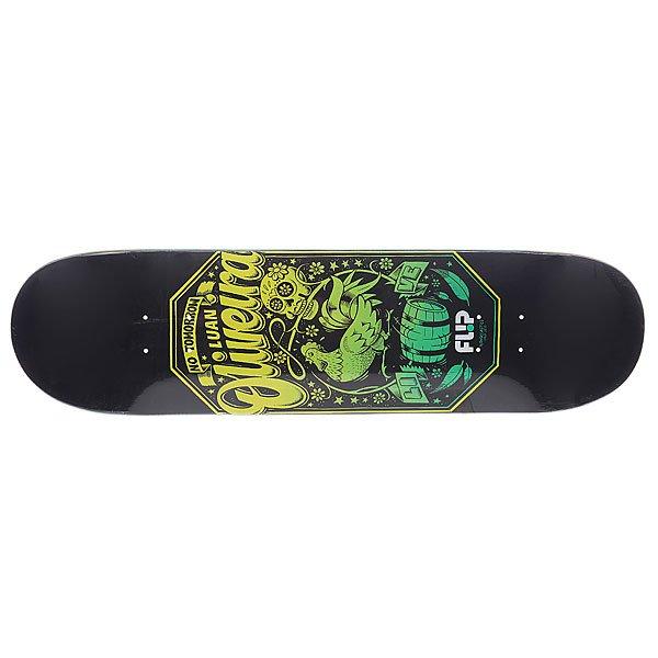 Дека для скейтборда для скейтборда Flip Oliveira Iconoclastics Series Black/Green 32 x 8.13 (20.7 см)Ширина деки: 8.13 (20.7 см)    Длина деки: 32 (81.3 см)    Количество слоев: 7Классическая дека для любителей классики.Технические характеристики: Материал: канадский клен.  Плотность: 7 слоев.Стильный принт.<br><br>Цвет: зеленый,черный<br>Тип: Дека для скейтборда