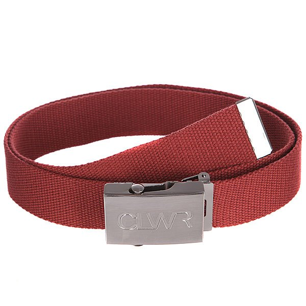 Ремень CLWR Belt BurgundyТекстильный ремень с фирменным логотипом иудобной металлической пряжкой – мастхэв стильного гардероба.Характеристики:Прочный стреп.Металлический наконечник и пряжка. Фирменный логотип на пряжке.<br><br>Цвет: коричневый<br>Тип: Ремень<br>Возраст: Взрослый<br>Пол: Мужской