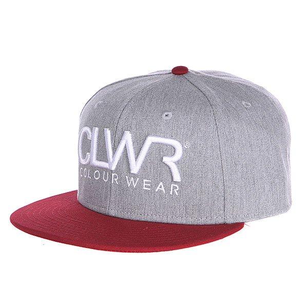 Бейсболка CLWR Cap Grey Melange<br><br>Цвет: серый,бордовый<br>Тип: Бейсболка с прямым козырьком<br>Возраст: Взрослый