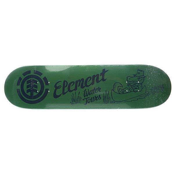 Дека для скейтборда для скейтборда Element Family Buziness Water 32.5 x 8.25 (21 см)Ширина деки: 8.25 (21 см)    Длина деки: 32.5 (82.6 см)    Количество слоев: 7 Прочная семислойная дека из канадского клёна с мощным щелчком от Element. Технические характеристики:   Глубокий киктейл. Назначение: Фрирайд. Конструкция: Канадский клен. Слои: 7 слоев. Колесная база: 14,25 (36,2 см.). Графика: яркие рисунки с дополнительными цветовыми оттенками от Element.<br><br>Цвет: зеленый<br>Тип: Дека для скейтборда