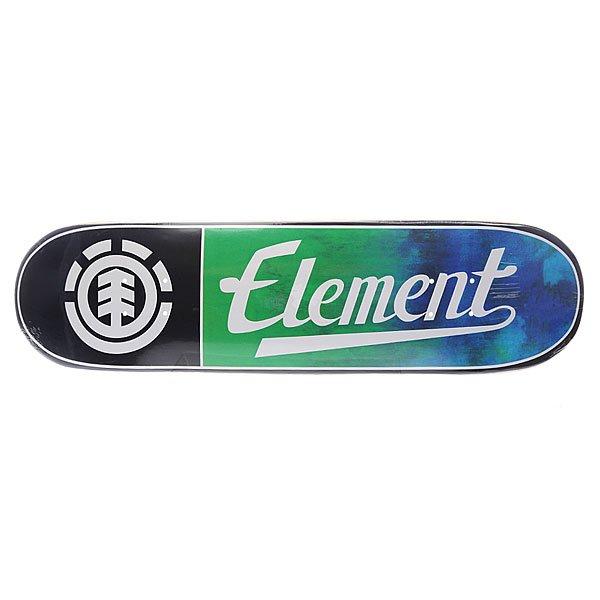 Дека для скейтборда для скейтборда Element Ashbury Twig Logo 30.75 x 7.75 (19.7 см)Ширина деки: 7.75 (19.7 см)    Длина деки: 30.75 (78.1 см)    Количество слоев: 7 Прочная семислойная дека из канадского клёна с мощным щелчком от Element. Технические характеристики:   Глубокий киктейл. Назначение: Фрирайд. Конструкция: Канадский клен. Слои: 7 слоев. Колесная база: 14,25 (36,2 см.). Графика: яркие рисунки с дополнительными цветовыми оттенками от Element.<br><br>Цвет: черный,зеленый,синий<br>Тип: Дека для скейтборда