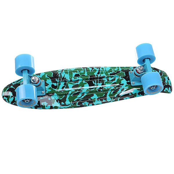 Скейт мини круизер Turbo-FB Camo Black/Green/Blue 22 (55.9 см)